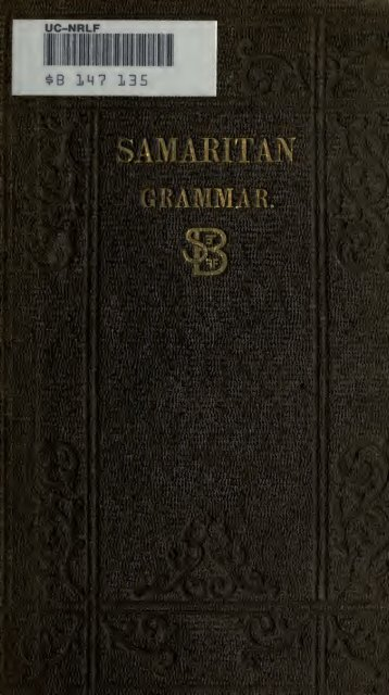 A grammar of the Samaritan language, with extracts ... - EducationNest