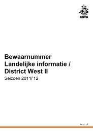 Bewaarnummer Landelijke informatie / District West II