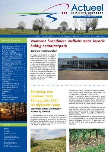 November 2011 - Gemeente Geetbets