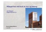 Miljøgevinst ved bruk av mur og betong - Undervisningsbygg Oslo KF