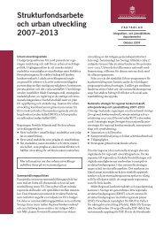 Strukturfondsarbete och urban utveckling 2007–2013 - Tema asyl ...