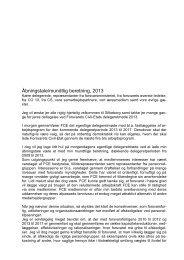 Formandens åbningstale - FCE