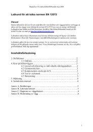 Lathund för att tolka normen EN 12572 Innehållsförteckning