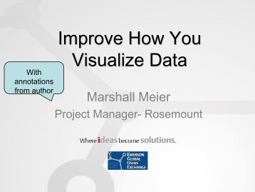 Improve How You Visualize Data - Emerson Process Experts