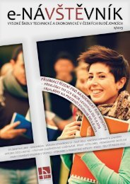 Časopis e-NÁVŠTĚVNÍK 2 - Vysoká škola technická a ekonomická v ...