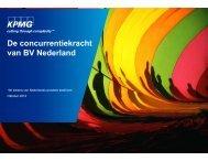 De concurrentiekracht van BV Nederland
