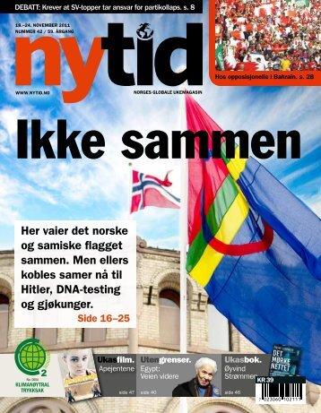 Her vaier det norske og samiske flagget sammen. Men ellers kobles ...