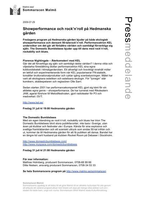 Showperformance och rock'n'roll på Hedmanska ... - Mynewsdesk