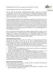 Uitgebreid verslag - sbo Sectorbestuur Onderwijsarbeidsmarkt