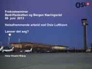 Oslo Lufthavn - Vidar Howlid Wærp - Bergen Næringsråd