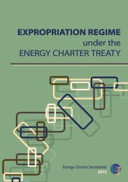 EXPROPRIATION REGIME under the ENERGY CHARTER TREATY