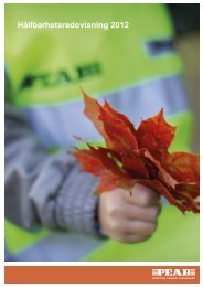 Hållbarhetsredovisning 2012 - Net