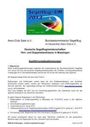 Aero-Club Saar e.V. Bundeskommission Segelflug - Home ...