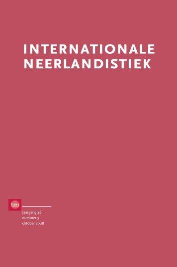 IN 3, oktober 2008 - Internationale Vereniging voor Neerlandistiek