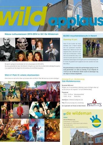 Wild Applaus juni 2013 - Gemeente Herent