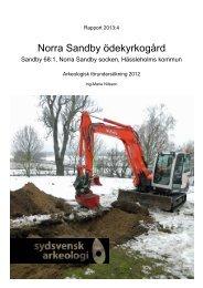 Norra Sandby ödekyrkogård - Sydsvensk Arkeologi AB