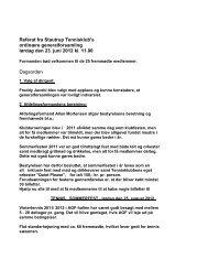 Referat fra Stautrup Tennisklub's ordinære generalforsamling lørdag ...