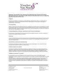 Algemene voorwaarden - Visscher & van Noort