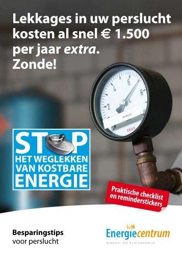 Brochure Besparingstips voor perslucht pdf - Energiecentrum