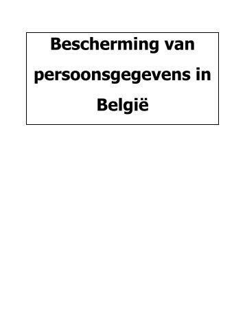 Bescherming van persoonsgegevens in België - Privacy Commission