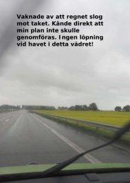 Vaknade av att regnet slog mot taket. Kände direkt ... - physiochraft.se