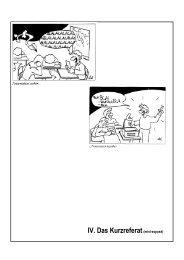 IV. Das Kurzreferat(mini-exposé)