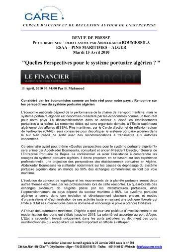 REVUE DE PRESSE 13 04 2010 - CARE
