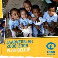 JAARVERSLAG 2008-2009 PLAN BELGIË