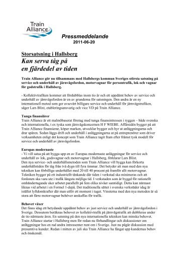 Storsatsning i Hallsberg (PDF) - Train Alliance