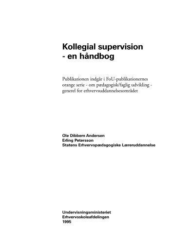 Kollegial supervision - en håndbog - Undervisningsministeriet