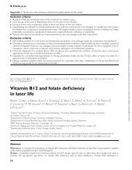 Vitamin B12 and folate deficiency in later life