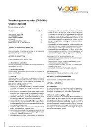 Verzekeringsvoorwaarden (oPS-0601) Studentenpakket - VvAA