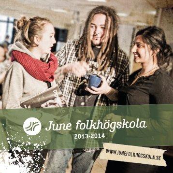 Prospekt för 2013-14 - June Folkhögskola