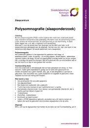 Polysomnografie - Streekziekenhuis Koningin Beatrix