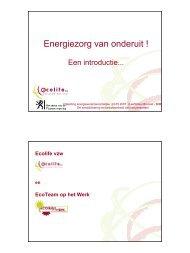 Energiezorg van onderuit ! - IBGE