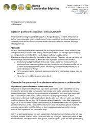 Notat om plantevernsituasjonen i småkulturer 2011 - Norges Bondelag
