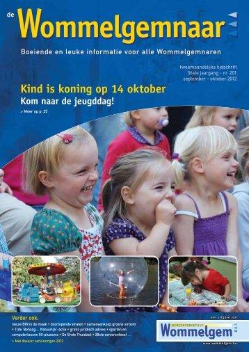 Kind is koning op 14 oktober - Gemeente Wommelgem
