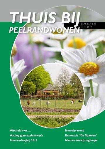 Nieuwsbrief Thuis bij PeelrandWonen april 2013