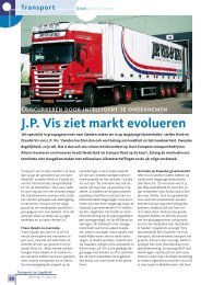 J.P. Vis ziet markt evolueren - J.P. Vis &ZN