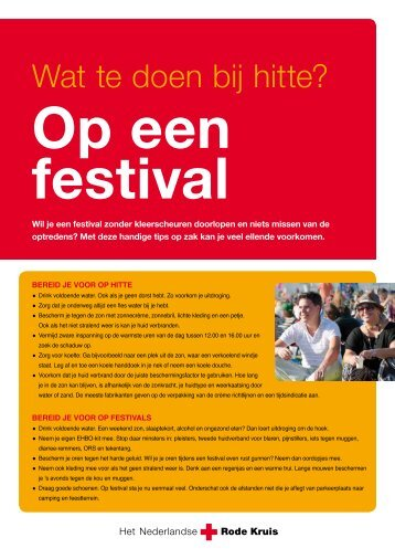 Download de Eerste Hulp tips bij hitte op een festival.pdf - Rode Kruis