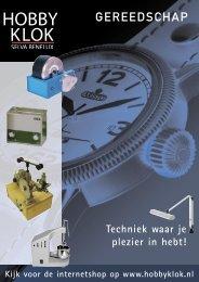 Speciale gereedschap catalogus - Hobby Klok / Selva Benelux
