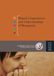 Women's experiences and understandings of menopause