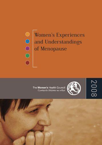 Women's experiences and understandings of menopause