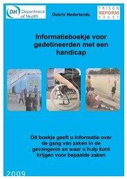 Informatieboekje voor gedetineerden met een handicap