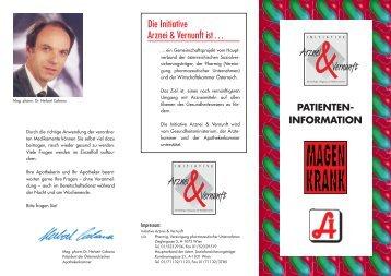 Initiative Arznei & Vernunft - Magen krank - Patienteninformation