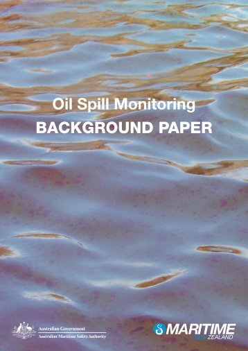 Oil Spill Monitoring BACKGROUND PAPER - Australian Maritime ...