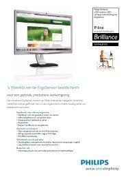 Meer informatie - Philips Ergosensor monitor