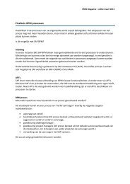 Flexibele BPM processen - VNSG