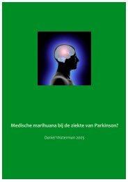 Medische marihuana bij de ziekte van Parkinson?