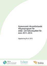 Gemensamt riksomfattande tillsynsprogram för miljö- och ... - Valvira.fi